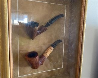 Vintage Pipes Shadow Box
