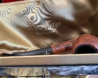 Vintage Barling Pipe with Dust Jacket and box