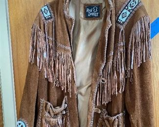 Vintage Real Leather Suede Fringe Coat