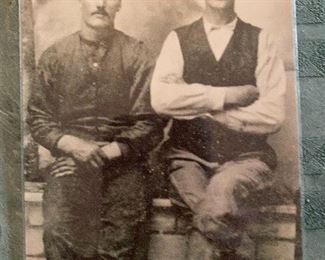 Real Photogrpahs Copy, Morgan Earp (left) Wyatt Earp (right)