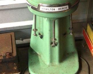 Vintage milk shake machine, three mixers, works