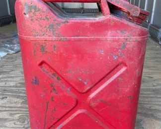 Several vintage gas cans available, dated from 49 thru 52