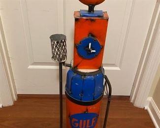 Unique folk art, Gulf gas pump
