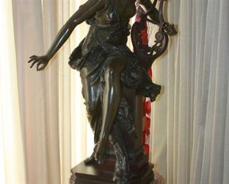 "19th Century Bronze sculpture by Albert Ernest Carrier-Belleuse (1824-1887) - ""Le Melodie""  31"" tall  asking $6,495."