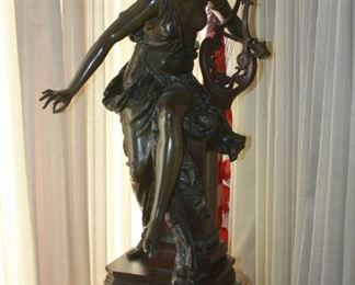"19th Century Bronze sculpture by Albert Ernest Carrier-Belleuse (1824-1887) - ""Le Melodie""  31"" tall  asking $6,495"