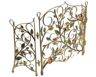 Floral Fireplace Guard