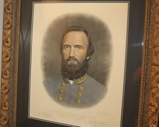 Stonewall Jackson Print 1871 to raise money for his Statue at the Virginia Military Academy