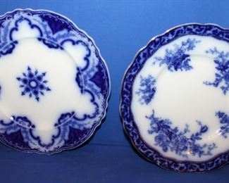 Cambridge Alfred Meachim flow blue dinner plate &  Touraine by Stanley Pottery