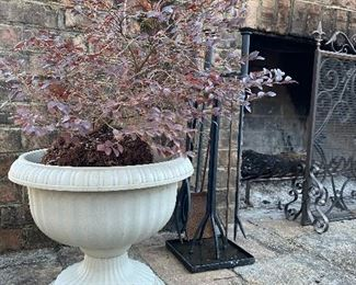 Various outdoor planters