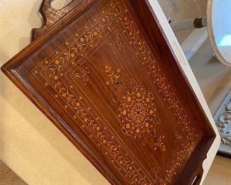 Inlaid wooden tray