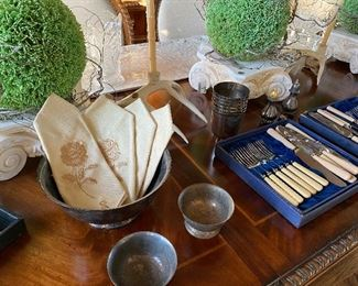 Revere Bowls, accessories & various flatware