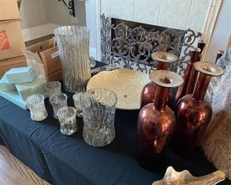 Partylite Candles, Scentsy, Various candle holders, hurricanes & vases.