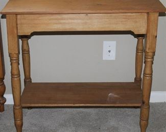"""Antique Yellow Pine Occasional/Side Table (30""""W x 17""""D x 28""""H)"""