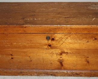 """Antique Hand Crafted Dove Tailed Trunk with Interior Side Storage Compartments (37 3/8""""W x 18""""D x 18""""H)"""