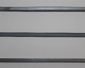 "Vintage Primitive Style Blue Paint Stained Plate Rack. (33 1/4""W x 4""D x 13 1/4""H)"