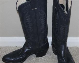 ML Leddy Custom Handmade Black Leather Ladies Western  Boots