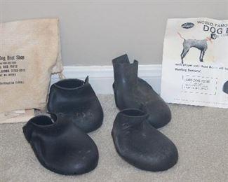 Lewis Dog Boots:  Black Rubber Large Dog Boots