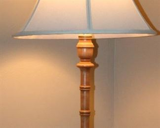Solid Maple Candle Stick Table Lamp