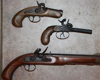 Jukar Spanish Philadelphia  Derringer Pistol.        European Double Barrel Percussion Pocket Pistol c1850 ,  Jukar Panish .45 Cal Black Powder Pistol