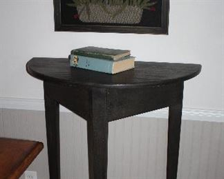"""Shaker Style Black Tall DemiLune Table (30""""W x 15""""D x 42""""H)"""