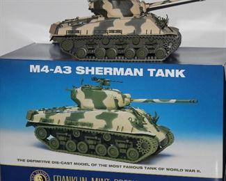 Franklin Mint Precision Models Mr-A3 Sherman Tank Scale1;24 Mint in Box