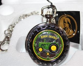"""John Deere """" Tractor Model R """" Limited Edition Collectors Edition  Pocket Watch"""