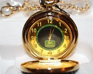Showing the inside of the John Deere Limited Edition Collectors  Pocket Watch