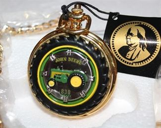 """John Deere """"830 Diesel Tractor"""" Limited Edition Collectors Edition  Pocket Watch"""