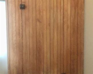 Antique Prumitive Bead Board Cabinet