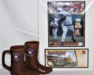 Houston Astros ceramic Boot Mugs                                    Andy Pettitte Houston Astros Pitcher Minute Maid Park