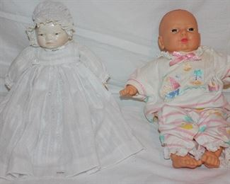 China Baby Doll  with Christening Gown and Cititoy  Vinyl Baby Doll0