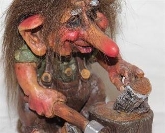 "Original Nord Suvenir  Troll  Verdal Norway.  Norwegian Troll (5"")"
