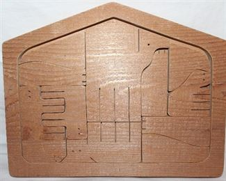 Solid Wood Puzzle Nativity Scene 11 x 14:  2 other sizes not shown