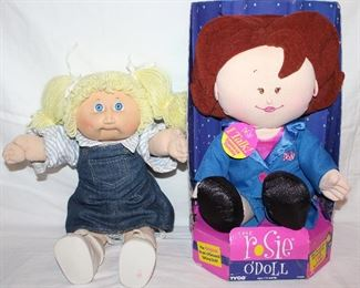 """Cabbage Patch Kid Doll (1982 and The Rosie O""""Doll by Tyco (1997)"""