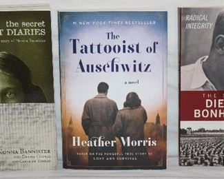 The Secret Holocost Diaries; The Untold Story of Nonna Bannister by Nonna Bannister The Tattooist of Aushwitz by Heather Morris. The Story of Dietrich Bonhoeffer by Michael Van Dyke.
