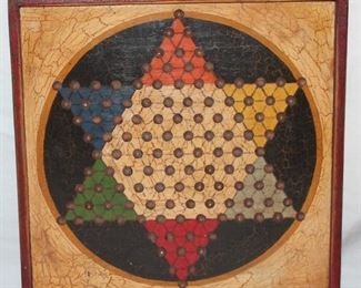 Chinese checkers game board, handcrafted by John Hulbert