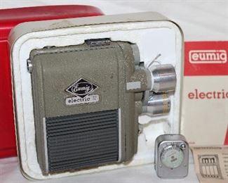 Eumig vintage 8mm electric movie camera. 1950's