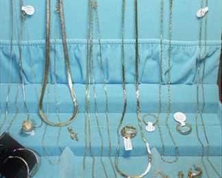 """14K Gold Collection:  Chains 18""""-32"""",  Rings, Braclet, Pendant and Earrings"""