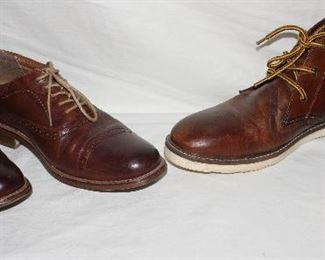 Leather G.H. Bass & Co. Men's size 9.5. Crevo low chukka chestnut Men's size 10