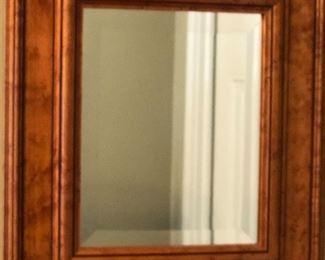 "Sullins House Inc Birdseye Maple Framed Bevel Mirror (13.5"" x 15.5"")"