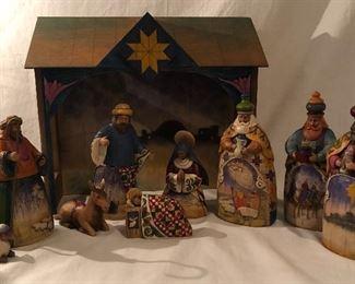 Jim Shore Nativity with Crèche  (10 pcs) Set