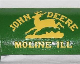 John Deeere Cast Iron Vintage Tractor Tool Box Lid