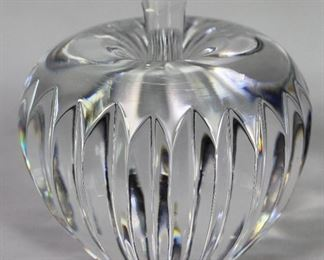 Waterford Crystal Stemmed Apple Paperweight