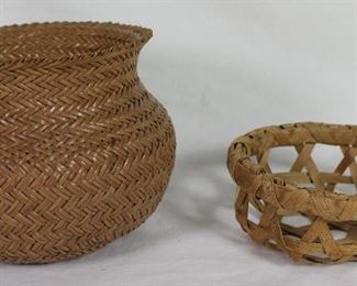 """Native American Tightly Woven Handmade Pine Needle Basket (3.5""""H x 5""""D)"""