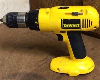 "DeWalt Adjustable clutch cordless 1/2"" vsr drill. Model DW995"