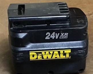 DeWalt 24 volt battery. Model DW0240 NiCd battery pack