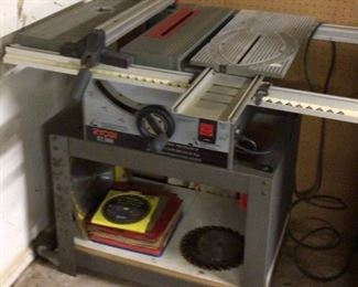 Ryobi 10 inch Table Saw bt3000 model with stand.