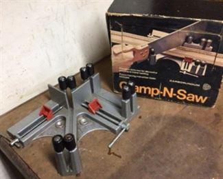 Carborundum precision mitre tool clamp n saw