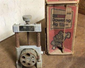 Vintage Craftsman Doweling Jig Fixture Woodworking 94186 Tool