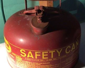 Vintage Red Gas Can - Type I, Red, 2 Gallon